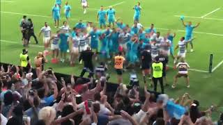 ARGENTINA RUGBY TEAM AΝD FANS CELEBRATE BEATING NEWZEALAND