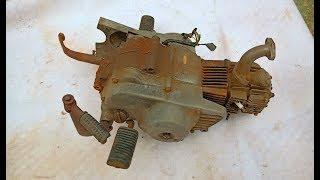 Restoration of the motorcycle old Honda Super Cub C50 engine | Restore motorcycle Honda engine rusty
