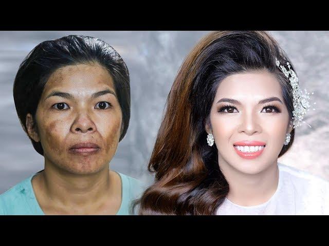 [Hùng Việt Makeup] Cô Dâu Mắt Bụp Da Nám Đen Cực Kì Khó Trang Điểm/ Hùng Việt Makeup
