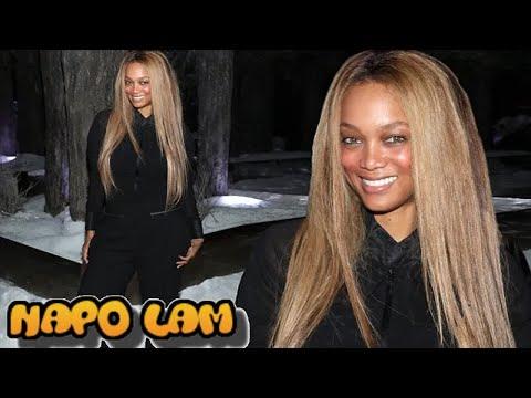 Tyra Banks dons crisp black jumpsuit for Operation Smile benefit in LA