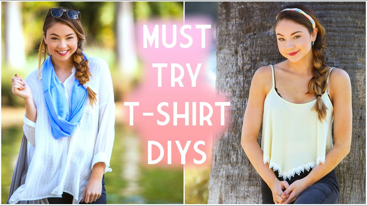Easy spring summer diy ideas repurpose old t shirts meredith foster youtube - Teenager girl simple home ...