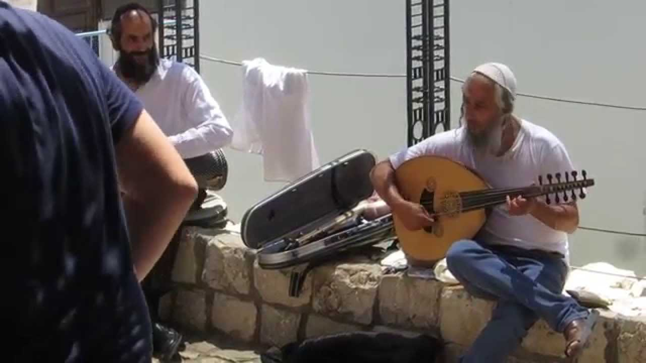 tzfat safed israel music in one of the city squares youtube