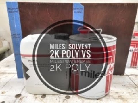 Milesi Solvent 2k Poly vs Milesi Water base 2k poly