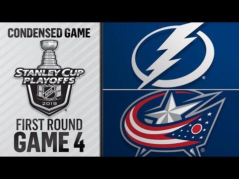 04/16/19 First Round, Gm4: Lightning @ Blue Jackets