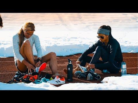 Emma Coburn | Aisha Praught Leer | 300m repeats workout | Gunnison, Colorado