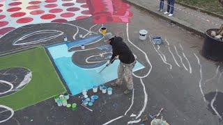 Piazzale Tripoli si colora con un omaggio a Gianni Rodari