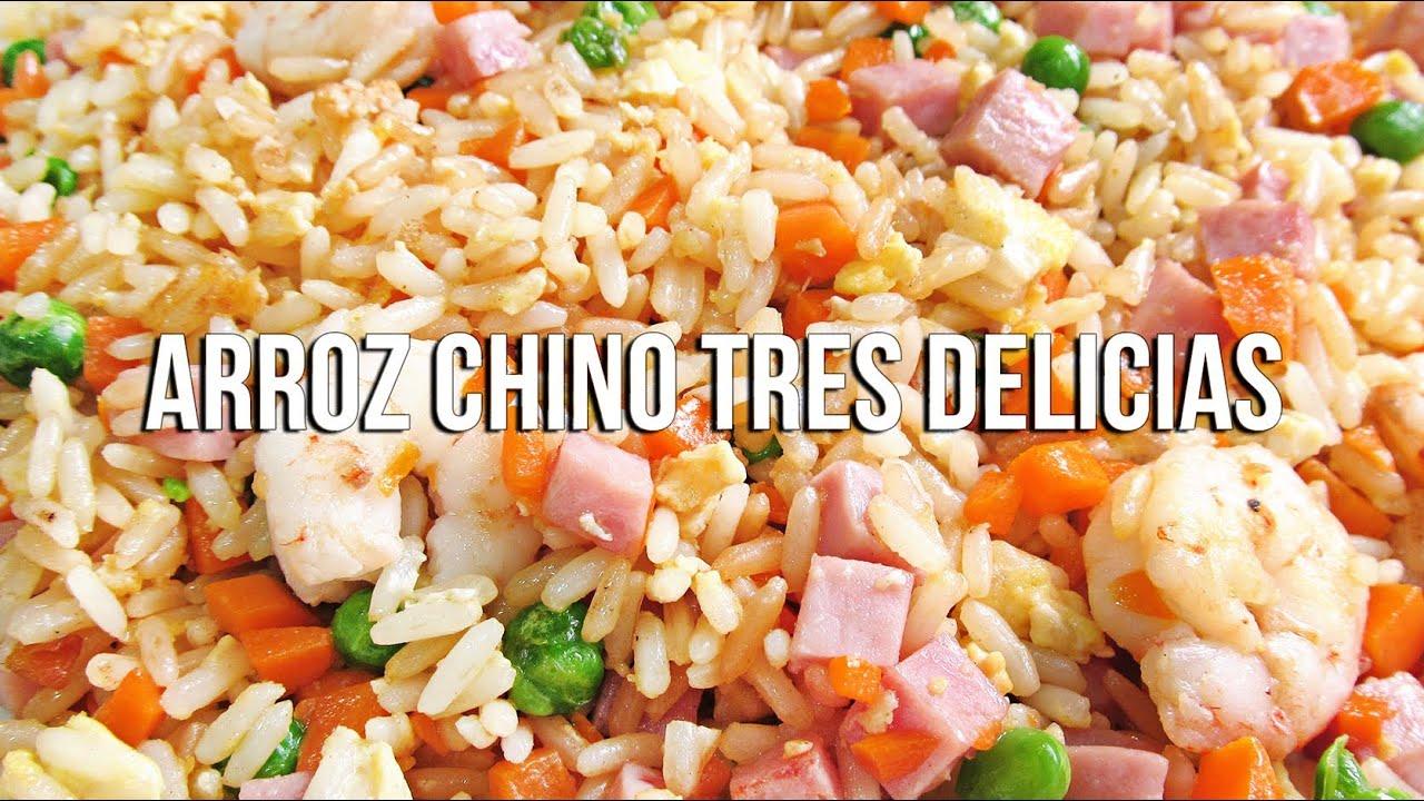 Arroz tres delicias chino youtube for Cocinar arroz 3 delicias