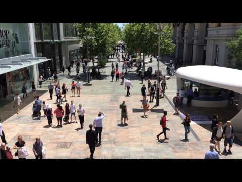 71. Pedestrian street in Perth, Western Australia. November 2016.