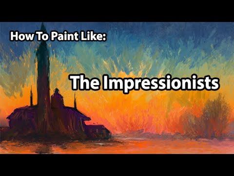 How To Paint Like The IMPRESSIONISTS - Digital Art Tutorial