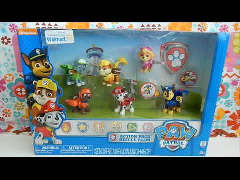 walmart-exclusive-paw-patrol-action-pack-set-of-six-characters-toy-review