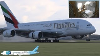 EMIRATES AIRBUS A380 CABIN and AIRCRAFT REVIEW