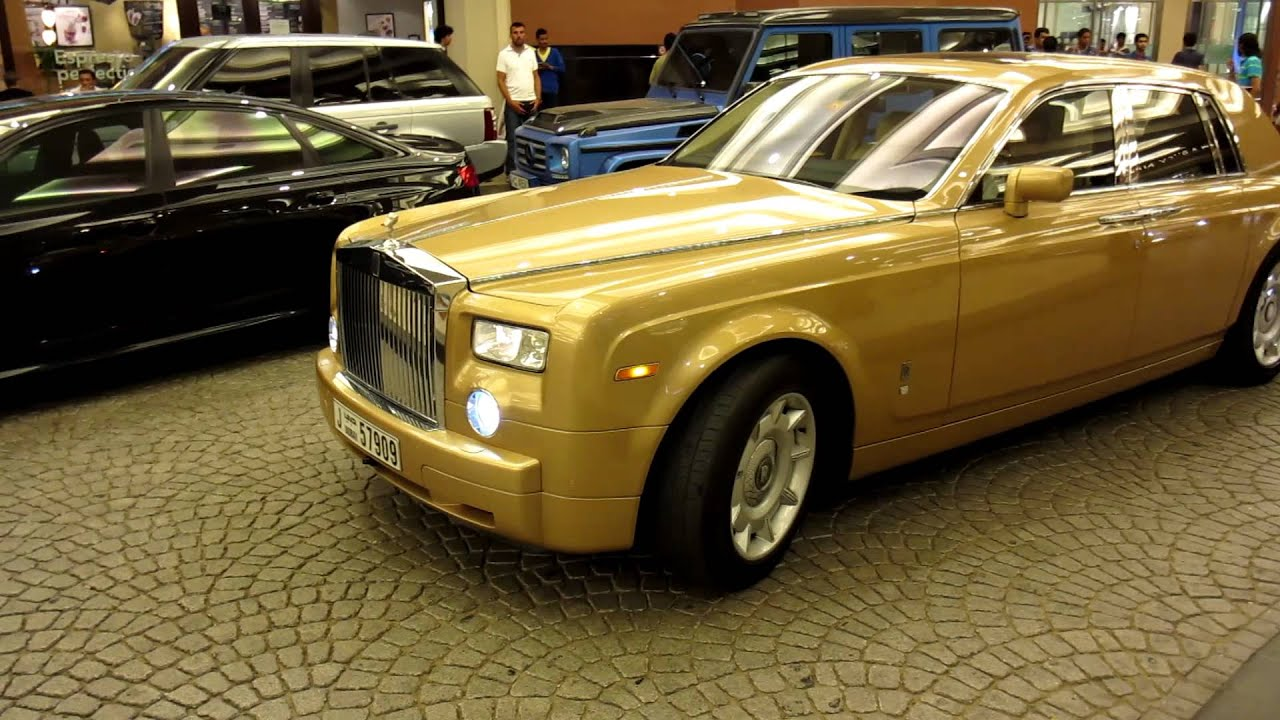 gold Rolls Royce Phantom - YouTube