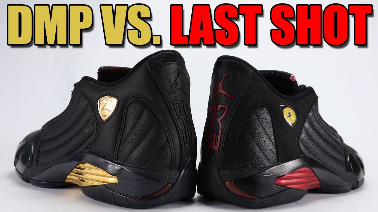 5ae08dca30a2c5 DMP vs Last Shot Air Jordan 14 Comparison - YouTube