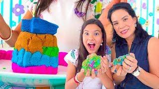 HICIMOS CASTILLOS  Y  FIGURAS DE KINETIC SAND  | AnaNana Toys