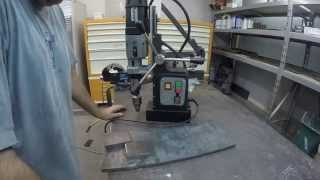 Magnetic (mag) Drill - Milling - Drilling - Tig Welding A Steel Stand