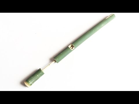 How to Make a Bamboo Gun that shoots Fruit bullets (Kamplok)    Khmer Traditional