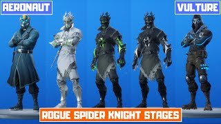 *NEW* All Leaked Fortnite Skins! (Vulture, Rogue Spider Knight, Aeronaut, Sledge, Hard Charger)