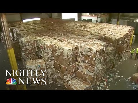 Why Online Shopping Boxes Are To Blame For Cities' Growing Garbage Dump Costs | NBC Nightly News