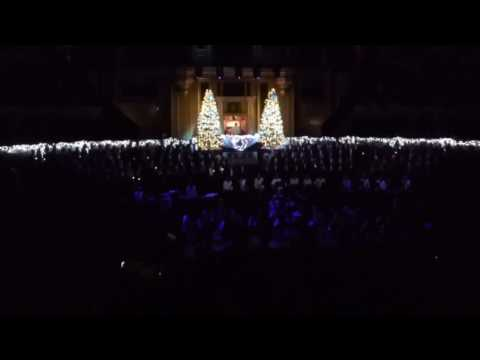 Royal Choral Society sings Stille Nacht (Silent Night) at the Royal Albert Hall