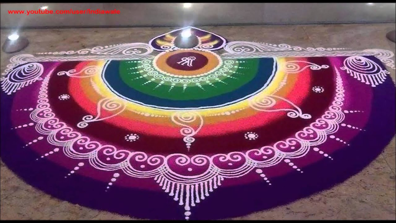 Circle Rangoli Design Images New