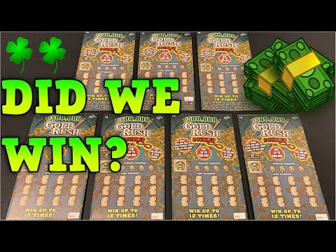 GOLD RUSH SCRATCH OFF $500,000 PRIZE TICKETS!💰💰