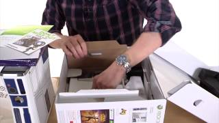 Unboxing of Microsoft Xbox 360 Slim 320GB Limited Edition Kinect Star Wars Bundle - 5XK001