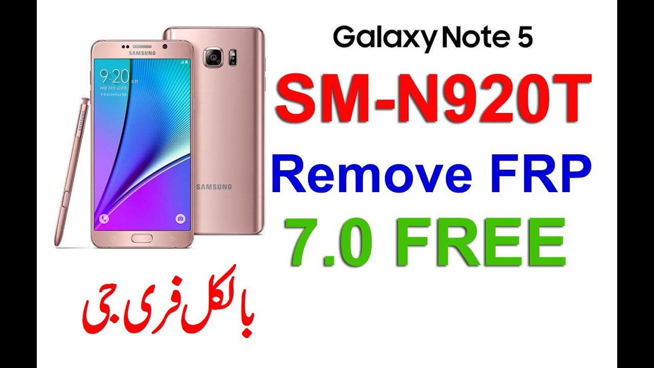 How to Remove frp N920T FRP and enable ADB 2019 N920T Note 5