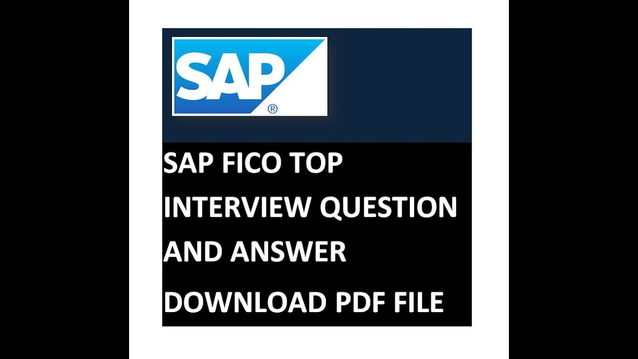 Sap Fico Interview Questions And Answers For Freshers Pdf