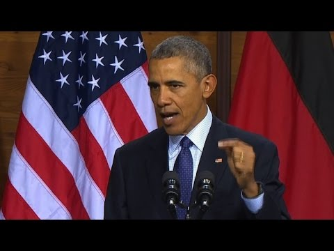 Obama calls for strong, united Europe