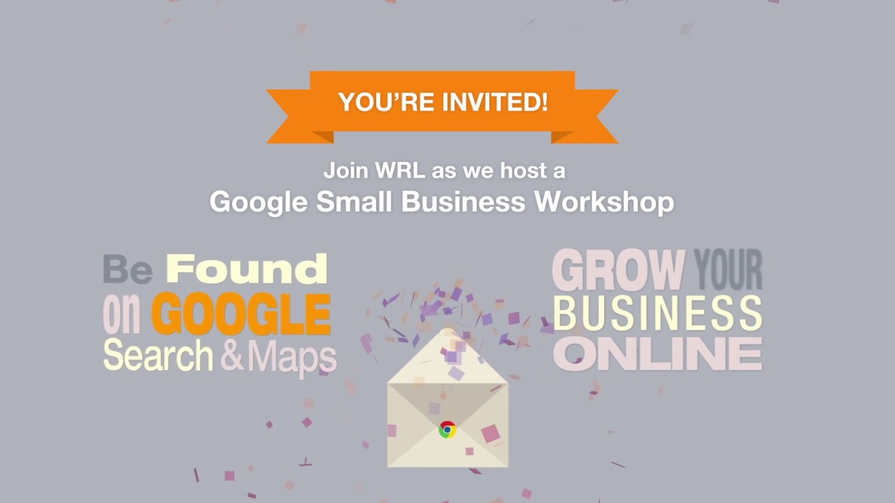 google small business event invitation youtube