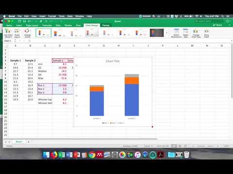 Box And Whisker Plot Using Excel 2016