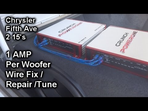 Chrysler Fifth Ave Sound System Repair - 2 15's - 2 Amplifiers (1 Per Subwoofer)