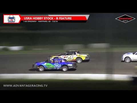 305 Sprint Heats/Hobby Stock B Feature - I-90 Speedway - 7/6/19