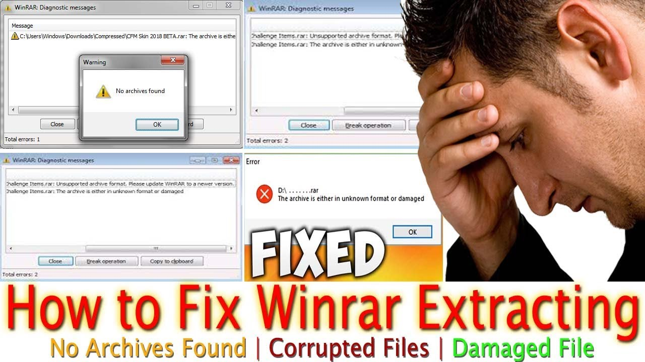 How to Fix Winrar Extracting N...