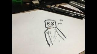 dibujando a MARSHMELLO!!! Alan Art12 YT