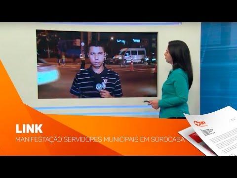 Link manifestação Servidores Municipais em Sorocaba - TV SOROCABA/SBT