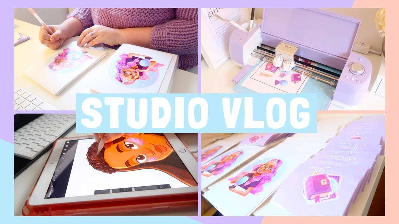 STUDIO VLOG | Making my FIRST EVER Sticker Packs | 032