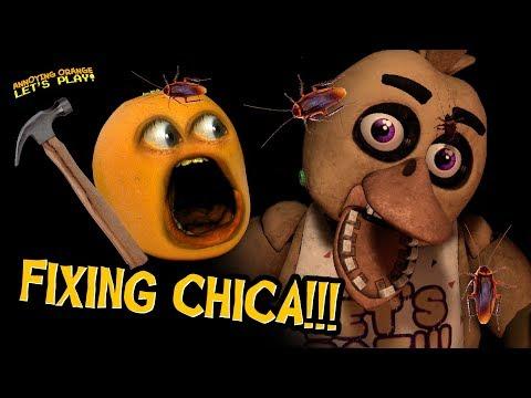 FNAF VR #2: FIXING CHICA!!! (Annoying Orange Plays)