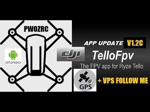TELLO FPV 1 2C BETA TEST / GPS & VPS FOLLOW ME MODE EXPERIMENT