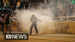 Tear gas, water canon used to halt Hong Kong protests on umbrella movement anniversary | ABC News