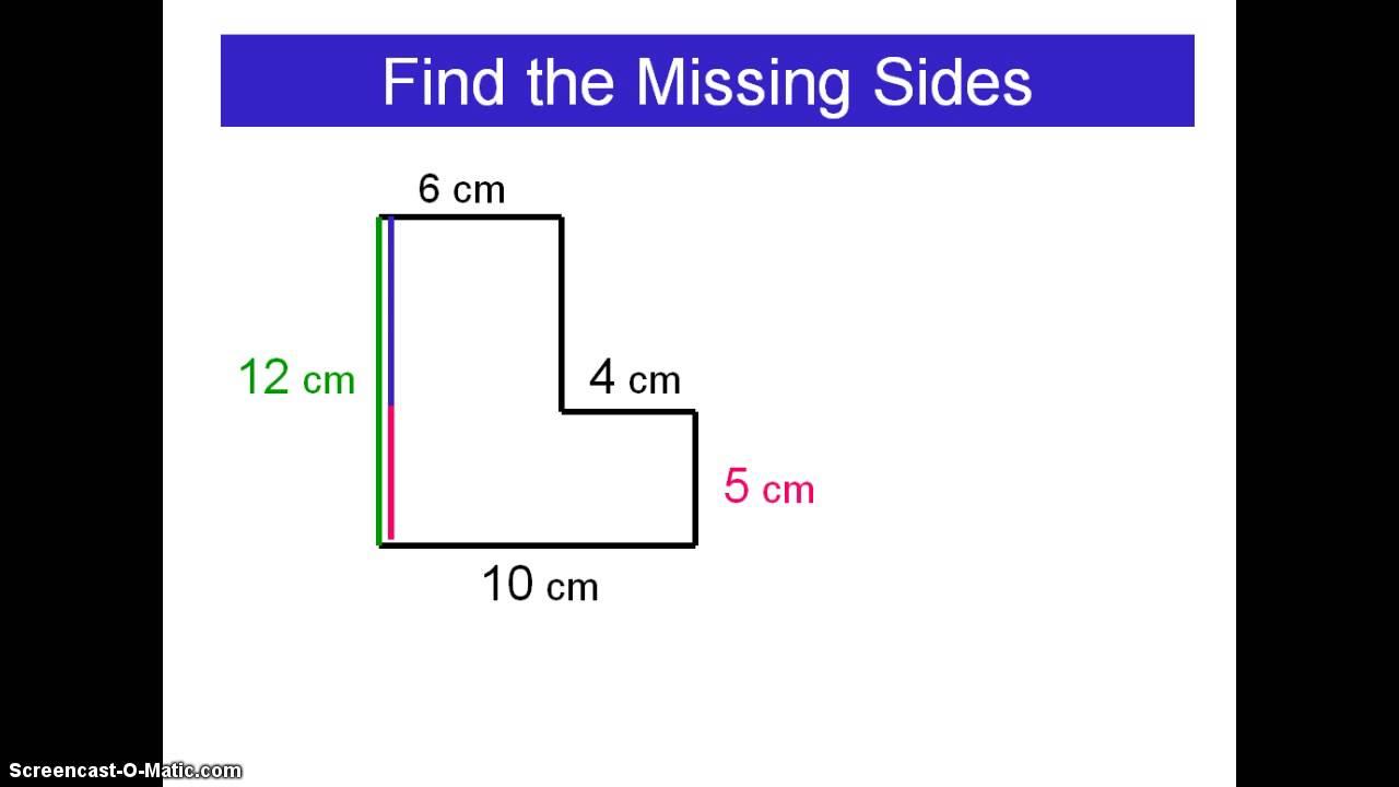 Missing Sides Of An Irregular Polygon