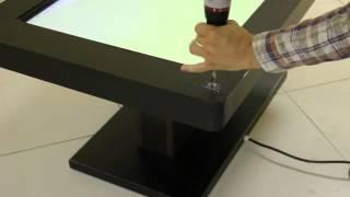 Испытания интерактивного стола. Стучим, поджигаем, ломаем, поливаем водой.(Производство интерактивных столов в Росиии. Износоустойчивый, негорючий, стойкий к абразивным материалам..., 2015-08-03T14:27:31.000Z)