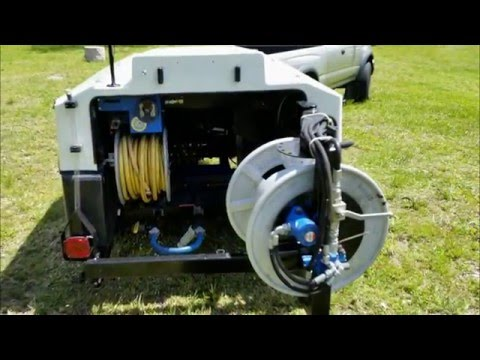 FOR SALE USED 3000PSI @ 19GPM SEWER JETTER - YouTube