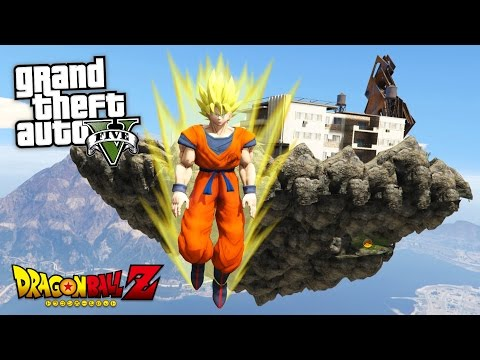 "GTA 5 Mods - DRAGON BALL Z ""SUPER SAIYAN GOKU"" MOD!! GTA 5 Dragon Ball Z Mod! (GTA 5 Mods Gameplay)"