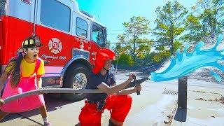 How to Learn Fire Safety | Ellie's Firefighter Education Video for Children