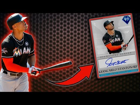 *97* GIANCARLO STANTON DEBUT! MLB THE SHOW 19 RANKED SEASONS DIAMOND DYNASTY!