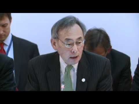 Steven Chu, US Energy Secretary addresses the Clean Energy Ministerial
