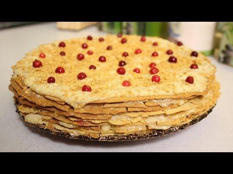 торт наполеон с сметаной рецепт пошагово