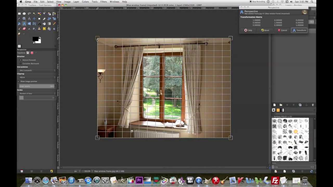 How to use the perspective tool in Gimp & a few other things