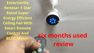 Gorilla Renesa+ Energy Saving 5 Star Rated Ceiling Fan With Remote Control